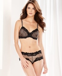 Whimsy By Lunaire Barbados Animal Lace Trim Mesh Demi Bra 15211