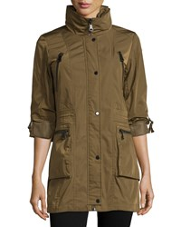 Marc By Andrew Marc New York Veronica Tab Sleeve Anorak Jacket Moss Green