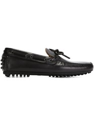 Car Shoe Lace Up Detail Loafers Black