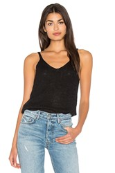 Bella Luxx Tape Yarn Crop Tank Black