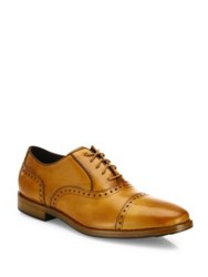Cole Haan Cap Toe Leather Oxfords British Tan
