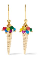 Rosantica Foce Gold Tone Bead Earrings