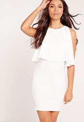 Missguided Bodycon Overlay Dress White White