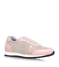 Gina Olympic Embellished Lame Sneakers Female Pink