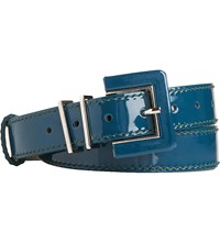 Lk Bennett Gena Skinny Patent Leather Belt Gre Evergreen