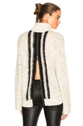 Pam And Gela Zip Back Sweater In Neutrals
