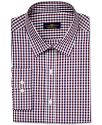 Club Room Estate Wrinkle Resistant Burgundy Holiday Gingham Dress Shirt Only At Macy's