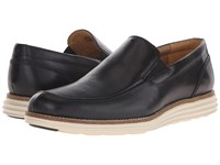 Cole Haan Original Grand Venetian Black White Men's Slip On Shoes
