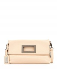 Badgley Mischka Brynn Leather Crossbody Bag Latte