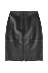Hugo Leather Pencil Skirt Black