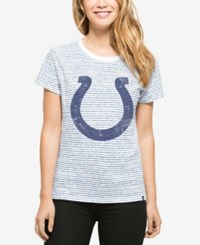 '47 Brand Women's Indianapolis Colts Sparkle Stripe T Shirt White