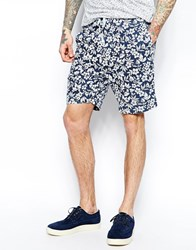 Universal Works Shorts In Floral Print Blue