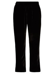 Masscob Cropped Velvet Trousers Black