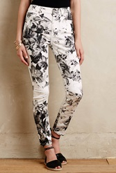 7 For All Mankind X Ray Floral Jeans Black And White