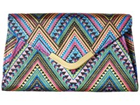Jessica Mcclintock Lily Boho Envelope Clutch Multi Woven Chevron Clutch Handbags