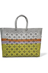 Truss Sunset Woven Raffia Effect Tote Yellow