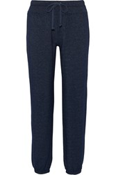 Splendid Stretch Jersey Track Pants Blue