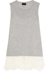 J.Crew Collection Feather Trimmed Cashmere And Silk Tank