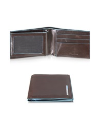 Piquadro Blue Square Genuine Leather Billfold