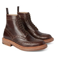 Grenson Fred Triplewelt Leather Brogue Boots
