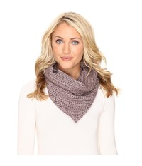 Ugg Crochet Snood With Lurex Sequins Stormy Grey Heather Scarves White