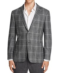Hickey Freeman Glen Plaid With Overcheck Slim Fit Sport Coat Grey