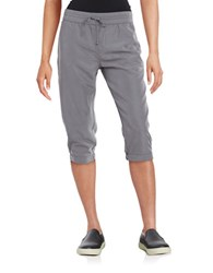 Bench Drawstring Cropped Pants Grey