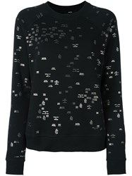 Diesel Mini Metallic Prints Sweatshirt Black