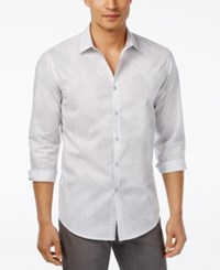 Inc International Concepts Men's Jared Long Sleeve Shirt Only At Macy's Light Grey