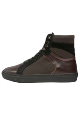 Boom Bap Karma Hightop Trainers Bordeaux Black