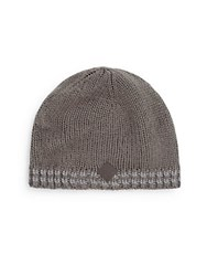 Cole Haan Double Striped Knit Beanie Storm Cloud