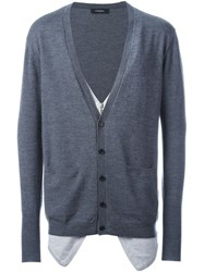 Unconditional Double Front Cardigan Grey