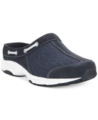 Easy Spirit Travelport Mules Women's Shoes Navy