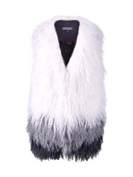 Tommy Hilfiger Nia Degrade Shearling Gilet White Multi