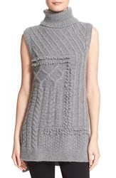 Derek Lam Women's 10 Crosby Cable Knit Turtleneck Sweater Vest