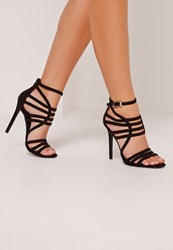 Missguided Extreme Strappy Gladiator Heels Black