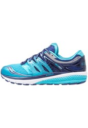 Saucony Zealot Iso 2 Cushioned Running Shoes Navy Blue Silver Dark Blue
