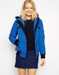 Bellfield Short Jacket With Faux Fur Blue