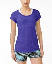 Ideology Lightweight Striped T Shirt Only At Macy's Blazing Purple