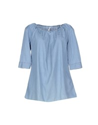 Aglini Shirts Blouses Women Blue