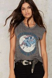 The Power Of A Woman Muscle Tee Gray