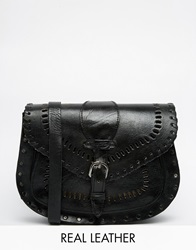 Warehouse Cross Body Bag With Stitching Detail Black