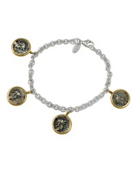1884 Jewelry Appia Silver And 18K Ottaviano Coin Charm Bracelet Women's