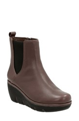 Clarksr Women's Clarks 'Clarene Surf' Wedge Chelsea Boot Taupe Leather
