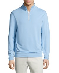 Peter Millar Perth E4 Performance Quarter Zip Stretch Pullover Cottage Blue
