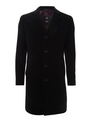 Bugatti Epsom Wool Overcoat Black