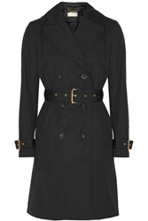 Michael Michael Kors Cotton Blend Trench Coat Black