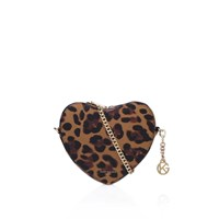 Kurt Geiger Saffiano Heart Cross Body Brown Other