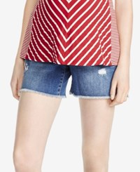Jessica Simpson Cuffed Denim Maternity Shorts Light Wash