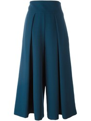 Milly Cropped Trousers Blue